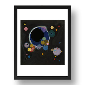 SEVERAL CIRCLES (Einige Kreise, 1926) BY WASSILY KANDINSKY  Framed Art Poster