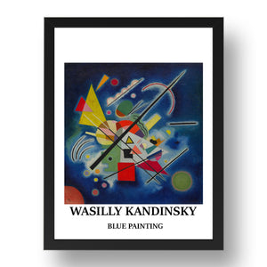 "WASILLY KANDINSKY---BLUE-PAINTING vintage historic poster in 17x13""(A3) Frame"