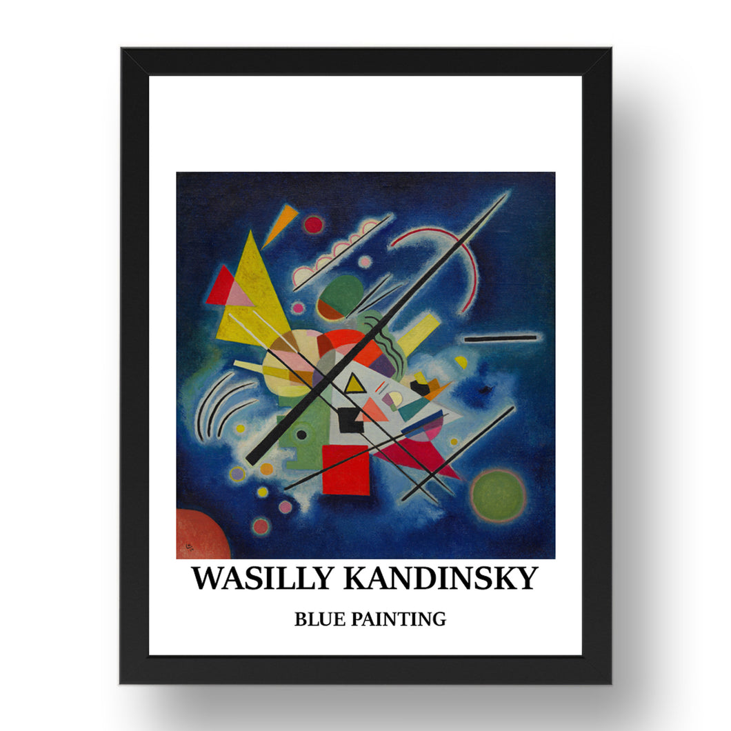 WASILLY KANDINSKY---BLUE-PAINTING vintage historic poster in 17x13