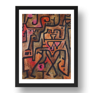"Wald Hexen (Forest Witches), 1938, by Paul Klee, 17x13""(A3) Black Frame"