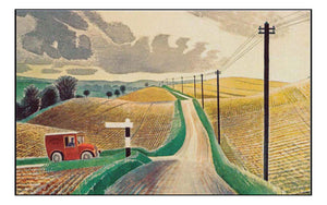 Wiltshire landscape by Eric Ravilious, (1903-42) by Eric Ravilious, A4 size (8.27 × 11.69 inches) Poster