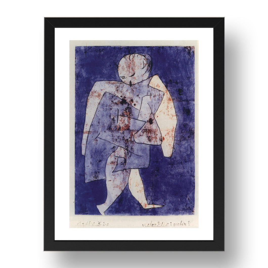 Woher 1940, Vintage Artwork by Paul Klee, 17x13