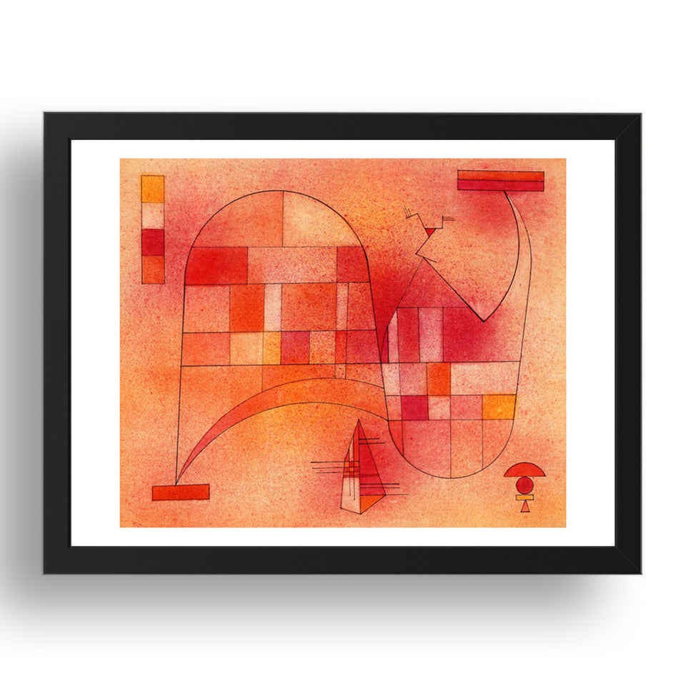 "Yellow Pink 1929 by Wassily Kandinsky, 17x13"" Frame"