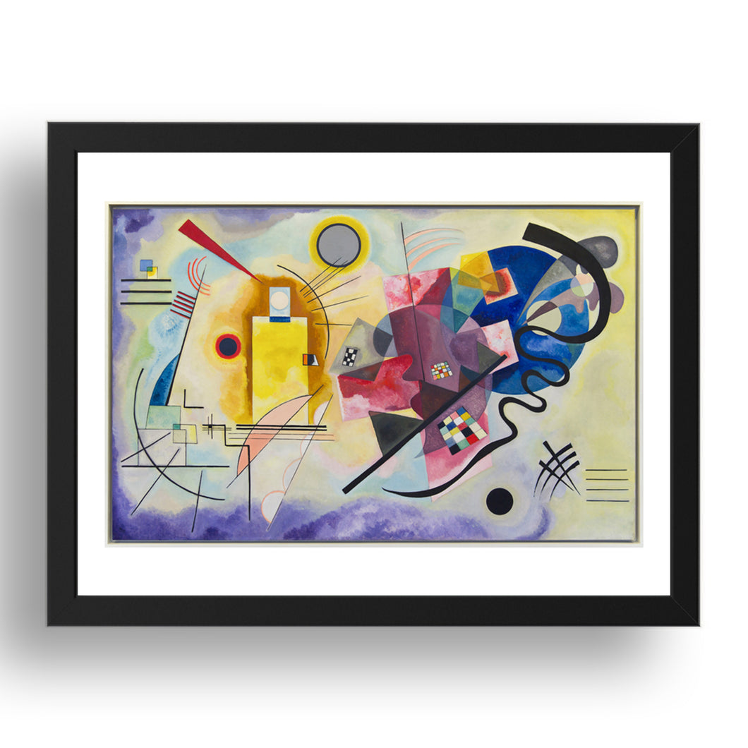 Yellow Red Blue Abstract by Wassily Kandinsky, 17x13