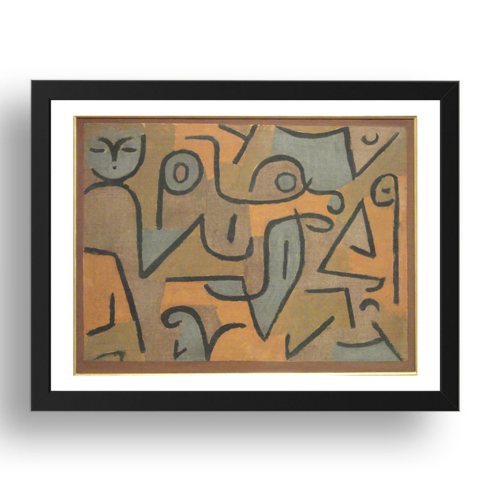 "Young Moe — Paul Klee, 1938, 17x13""(A3) Black Frame"