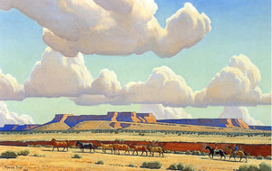 "Wide Lands of the Navajo, vintage artwork by Maynard Dixon, 12x8"" (A4) Poster"