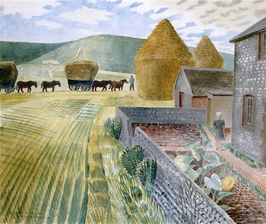 Furlongs by Eric Ravilious,16x12(A3) Poster