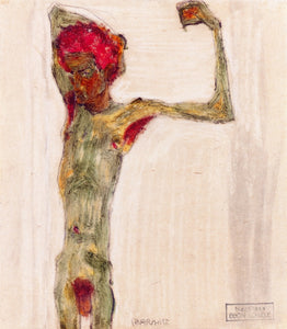 "Anarchist, vintage artwork by Egon Schiele, 12x8"" (A4) Poster"