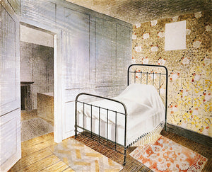 "The Bedstead, vintage artwork by Eric Ravilious, 12x8"" (A4) Poster"
