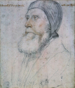 "John Russell, 1st Earl of Bedford (1485-1555), vintage artwork by Hans Holbein the Younger, 12x8"" (A4) Poster"
