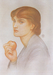 "Alexa Wilding Holding an Apple, vintage artwork by Dante Gabriel Rossetti, 12x8"" (A4) Poster"