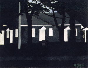 "Birmingham Meeting House III, vintage artwork by Horace Pippin, 12x8"" (A4) Poster"