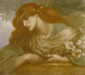 "The Blessed Damozel - Study, vintage artwork by Dante Gabriel Rossetti, 12x8"" (A4) Poster"