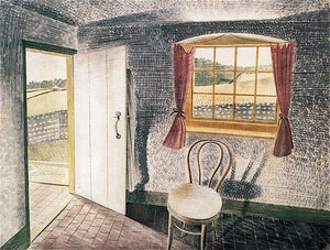 "Interior at Furlongs, vintage artwork by Eric Ravilious, 12x8"" (A4) Poster"