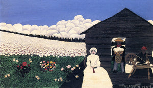 "Cabin in the Cotton IV, vintage artwork by Horace Pippin, 12x8"" (A4) Poster"
