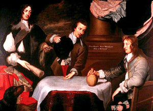 "Prince Rupert, Colonel William Murray, and Colonel The Honourable John Russell, vintage artwork by William Dobson, 12x8"" (A4) Poster"
