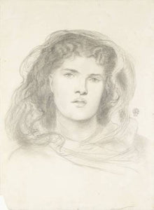 "The Beloved - study, vintage artwork by Dante Gabriel Rossetti, 12x8"" (A4) Poster"