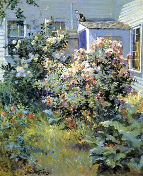 "Backyard with a Cat by Abbott Fuller Graves,A3(16x12"")Poster"