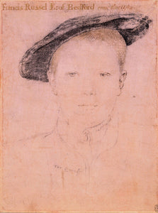 "Francis Russell, later 2nd Earl of Bedford (1526/7-1585), vintage artwork by Hans Holbein the Younger, 12x8"" (A4) Poster"