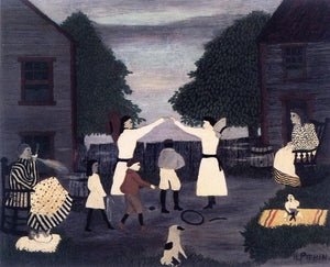 "After Supper, West Chester, vintage artwork by Horace Pippin, 12x8"" (A4) Poster"
