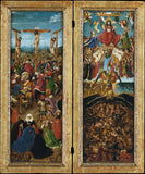 "The Crucifixion and the Last Judgement Diptych, vintage artwork by Jan van Eyck, 12x8"" (A4) Poster"
