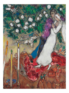 "Les Trois Cierges (3 candles) by Marc Chagall, 16x12"" (A3) Poster Print"
