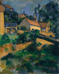 "turning road at montgeroult by P.Cézanne, 12x8"" (A4) Poster"
