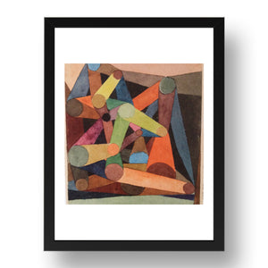 "twist & turn, Vintage Artwork by Paul Klee, 17x13""(A3) Black Frame"