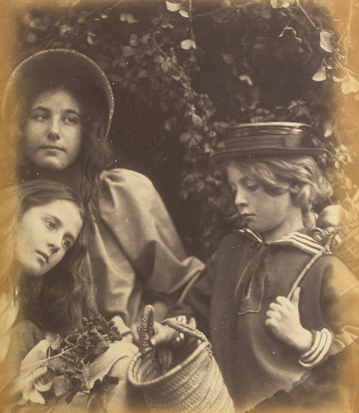 "Elizabeth Keown, Kate Keown, and Freddy Gould by Julia Margaret Cameron (British, 1815 - 1879), 16X12""(A3)Poster Print"