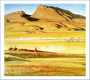 "Classic Vintage Landscape by Maynard Dixon, Classic American Western Art, 16x12"" (A3) Poster Print"