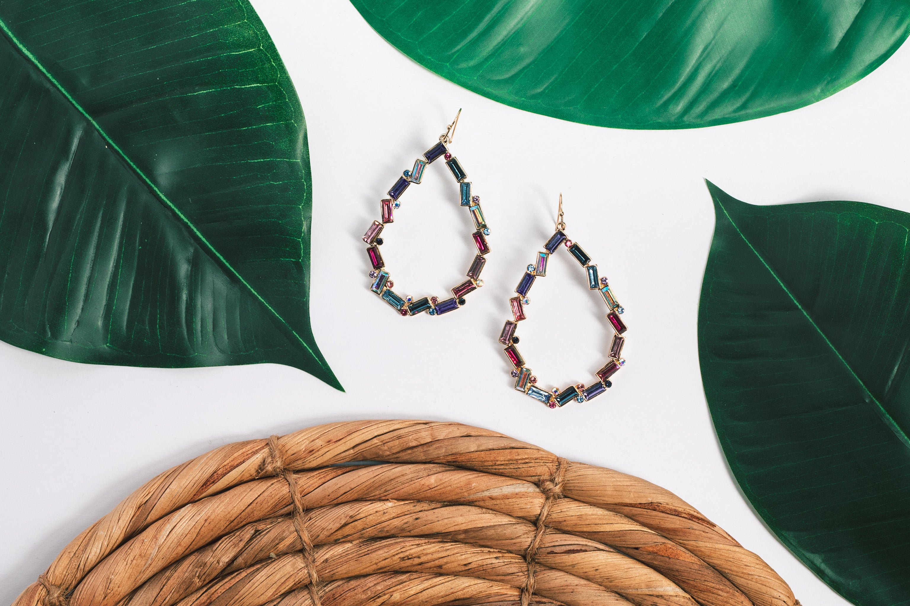 Kaleidoscope Teardrop Earring