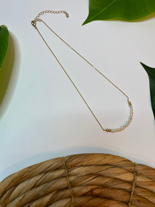 Pearl Rounded Bar Necklace