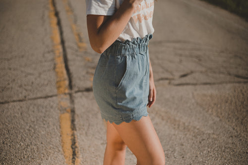Denim Paperbag Short