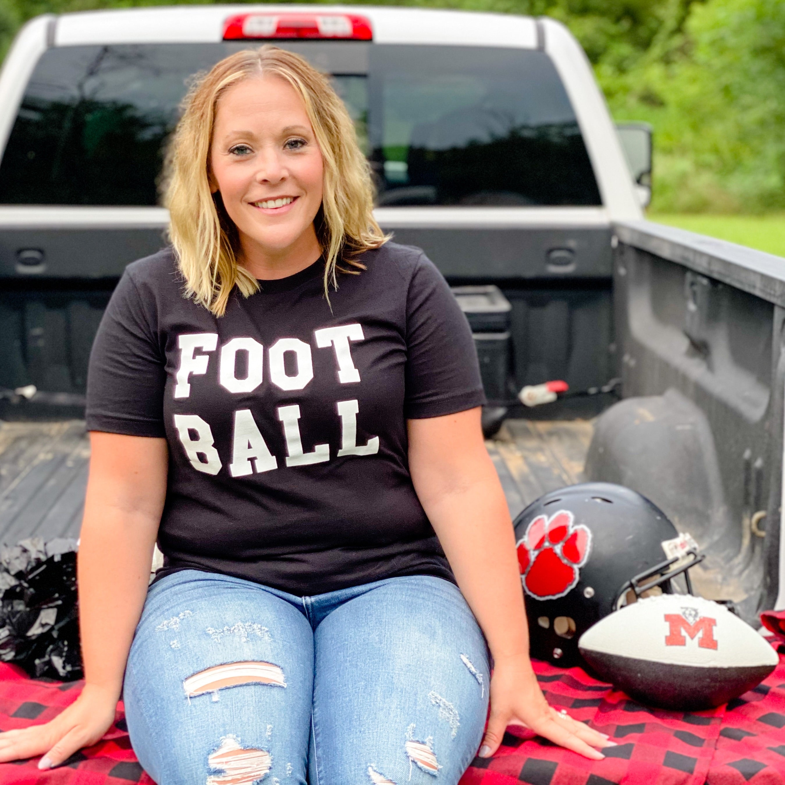 Black Foot Ball Tee