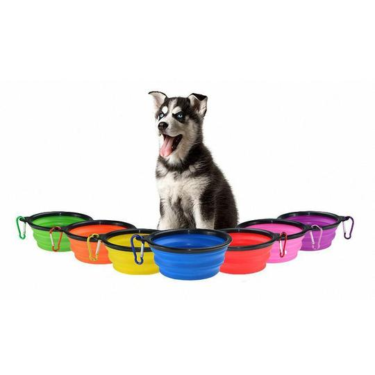 portable Collapsible silicone dog travel bowl