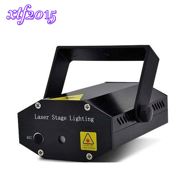 xtf2015  Laser Black New Mini DJ Disco Light Stage Xmas Projector Party Lighting Christmas Show for Dance, WTD-BK - dealsfortut