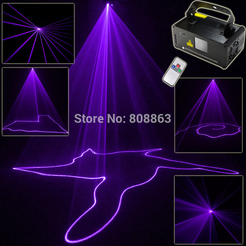 Violet Purple Laser Lines Beam Scans Remote DJ Dance Bar Xmas Party Disco DMX Lighting Effect Light Stage Light System Show B192 - dealsfortut