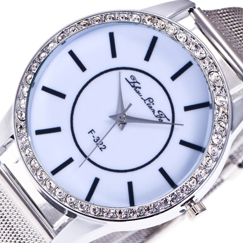 Unisex Watches Quartz Trendy Wrist Watch Stainless Steel Watches - dealsfortut