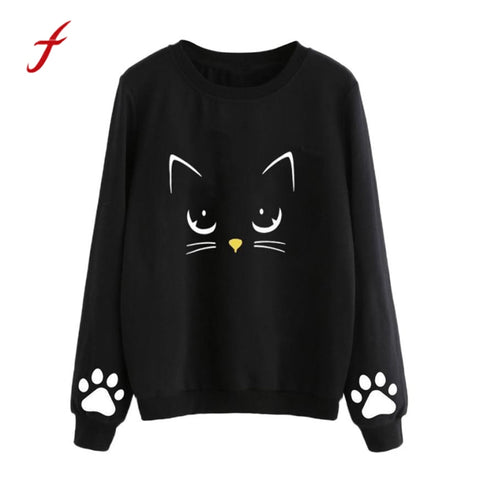 Fashion Sweatshirts  Cat Paw Printed