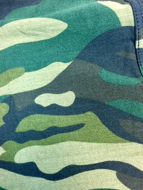 Camo Army Green Leggings In Plus Size