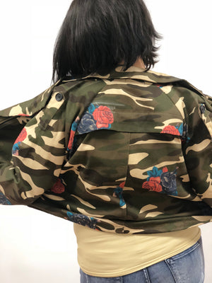 fatigues womens jacket camo vintage embroidery rose military free people street style nordsrom army coat