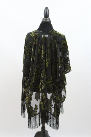 velvet burnout fringe kimono plus size layering floral silk vintage duster anthropologie last call chicos free people hsn target jacket robe vest