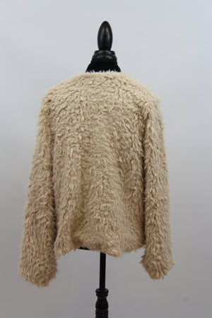 womens flattering open sweater jacket shaggy faux fur knit free people anthropologie gap banana republic chicos kohls nordstrom