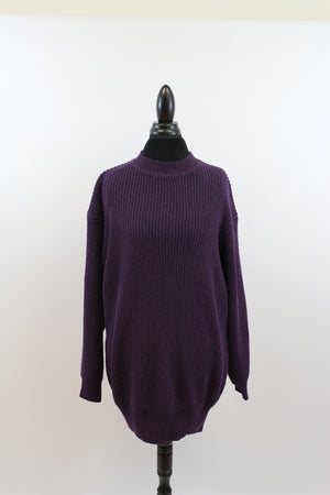 womens purple oversize street style cable knit long sweater j crew cardigans macys express free people tcu k state topshop chunky cheap plus size fall knit