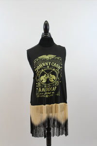 Johnny Cash: One Of A Kind Vintage Band T-Shirts With Ombre Fringe Tank