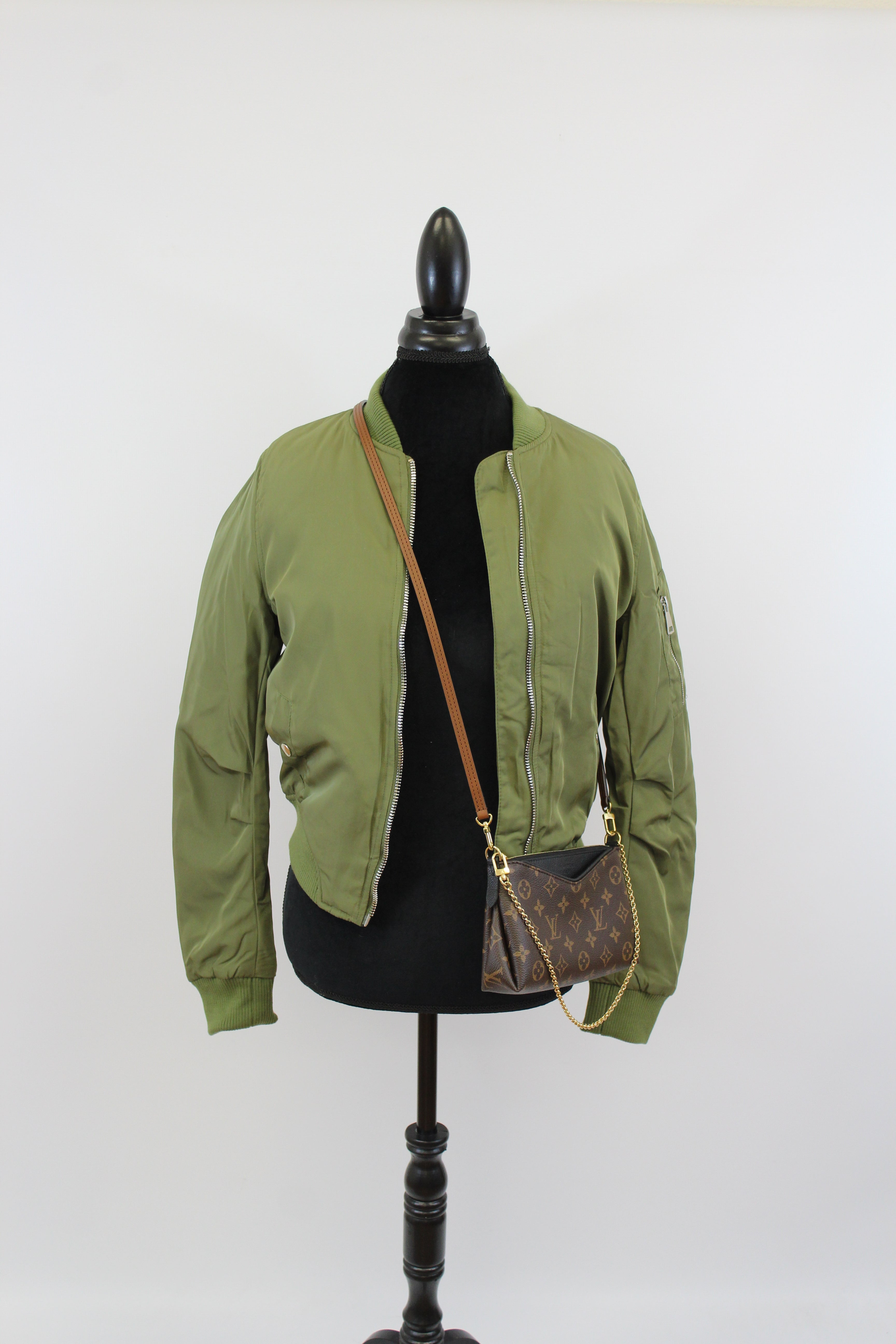 bomber jacket green black zip mid light weight pockets zippers women revolve levi overland nordstrom macys kohls amazon street style