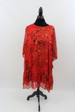 She Rocks In The Tree Top All Day Long Tunic In Red