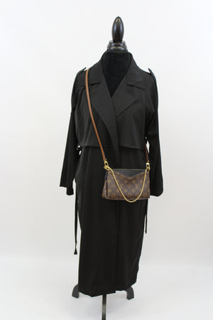 Madam Matrix Trench In Black