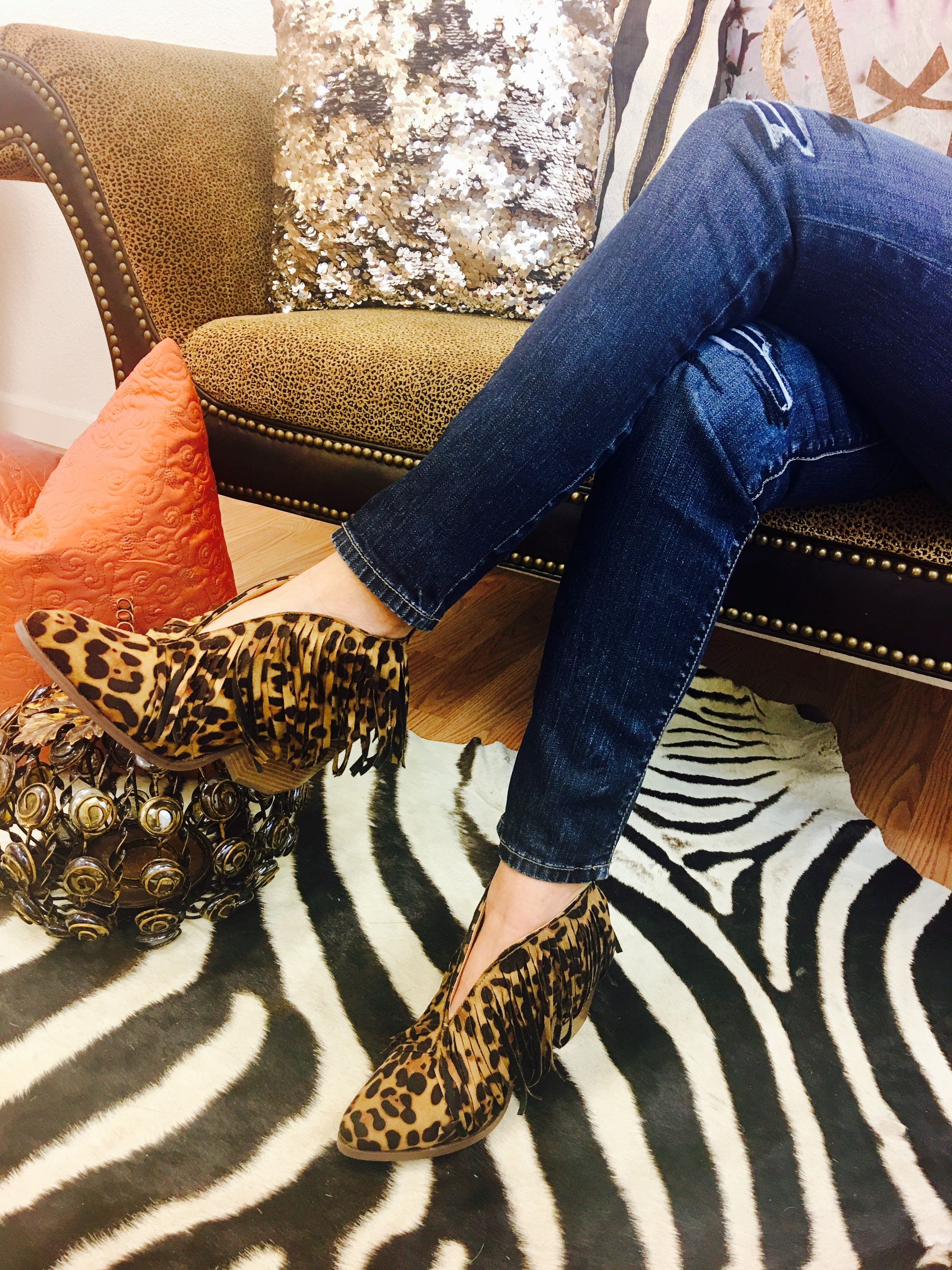 leopard ankle boots target