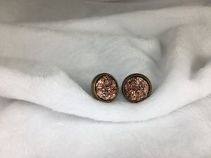 Dot Me Druzy Stud Earrings